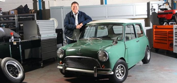 Mike Brewer with John Cooper's Mini Cooper S